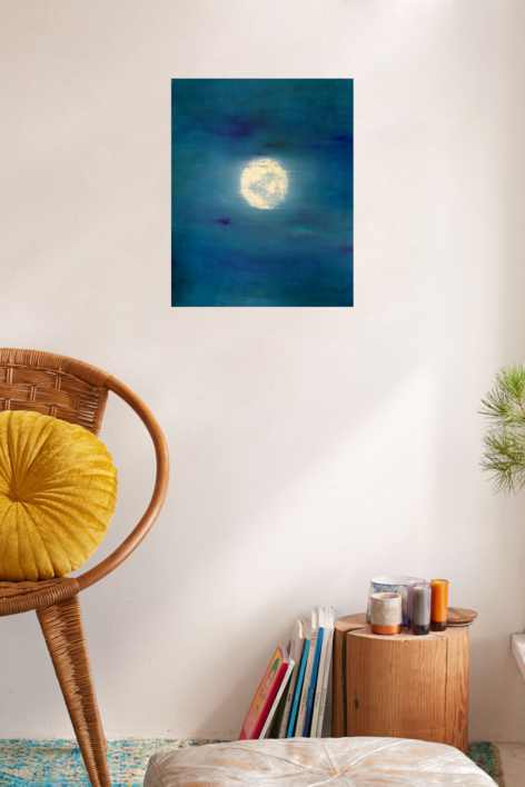 """""""Lunar Sea"""" Paso 1   Pintura de Esther Porta   Compra arte en Flecha.es"""