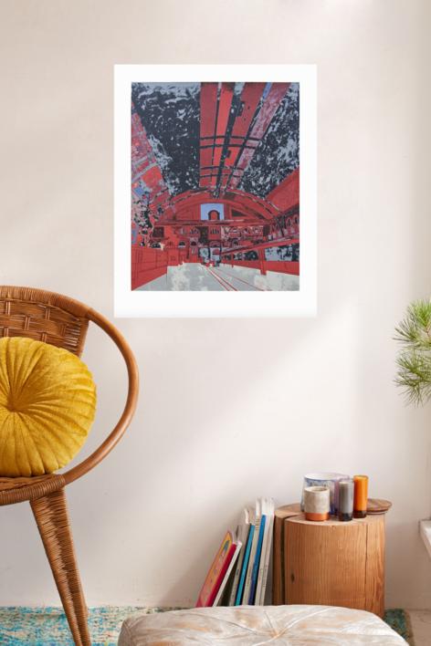 Estación de Francia (versión 1) | Obra gráfica de Jorge Castillo | Compra arte en Flecha.es