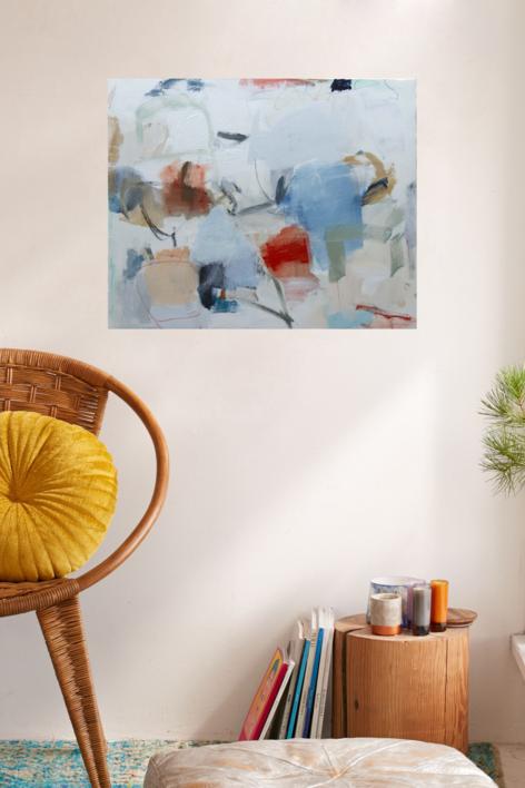 es azul | Pintura de Eduardo Vega de Seoane | Compra arte en Flecha.es