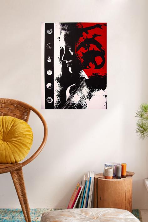 DAMA CON BOTÓN | Obra gráfica de androck | Compra arte en Flecha.es