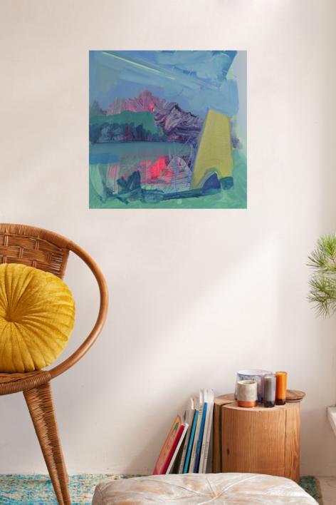 PAISAJE INTUITIVO 5 | Pintura de JCuenca | Compra arte en Flecha.es
