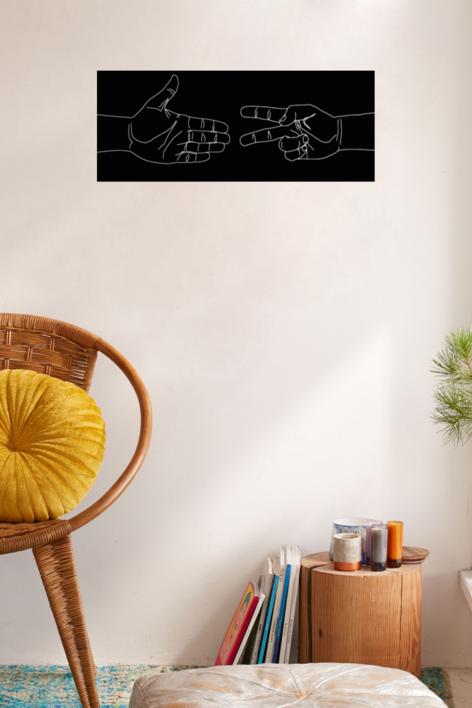 Pequeñas batallas - Piedra Papel Tijera   Digital de David Ortega   Compra arte en Flecha.es