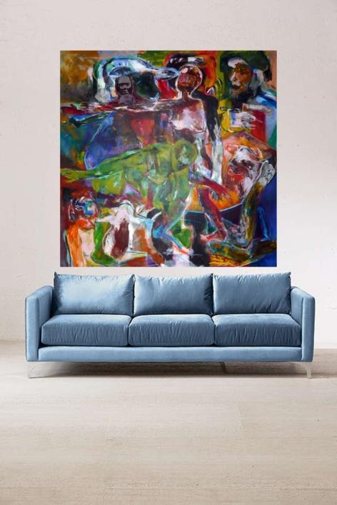 El Reconocimiento | Pintura de Javier Paniagua | Compra arte en Flecha.es
