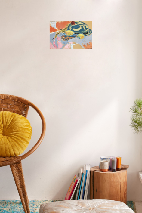 BODEGÓN CON SOMBRERO Y LIMONES | Pintura de Iraide Garitaonandia | Compra arte en Flecha.es