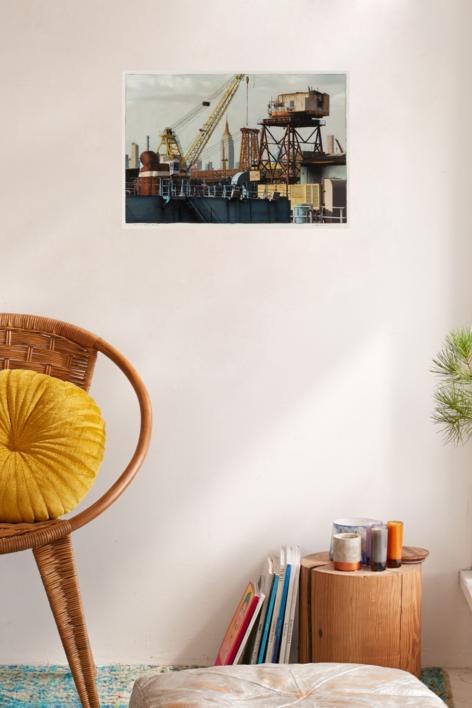 The City From Brooklyn Navy Yard | Fotografía de Carlos Arriaga | Compra arte en Flecha.es