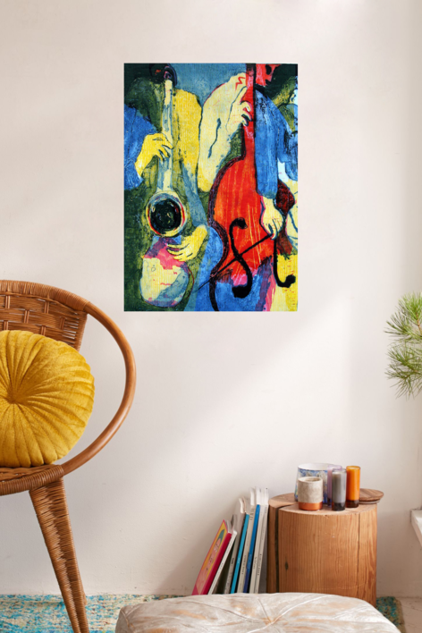 Jazz dueto I   Obra gráfica de Jenifer Carey   Compra arte en Flecha.es