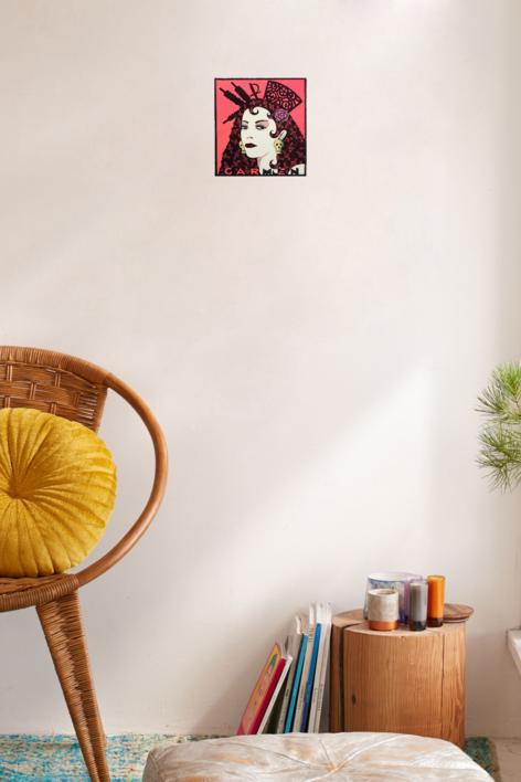 Serie: Diosas de la ópera: Carmen | Obra gráfica de Fernando Bellver | Compra arte en Flecha.es