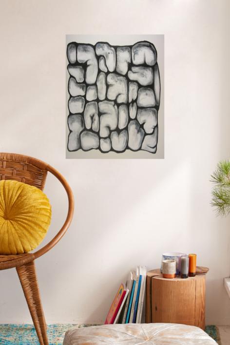 The Inner Wall | Pintura de Mercedes Azofra | Compra arte en Flecha.es