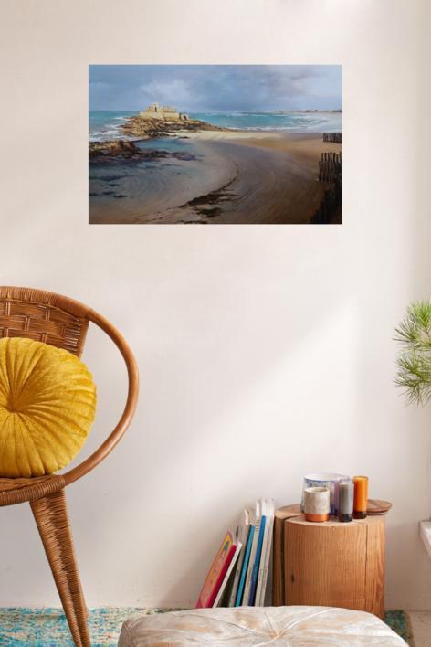 Saint Malo-atardecer   Pintura de Carmen Nieto   Compra arte en Flecha.es