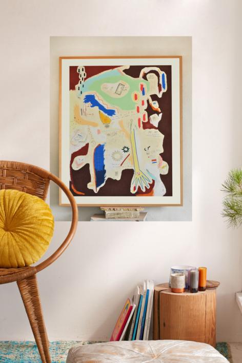 Handle Minds | Collage de Toni Salom | Compra arte en Flecha.es