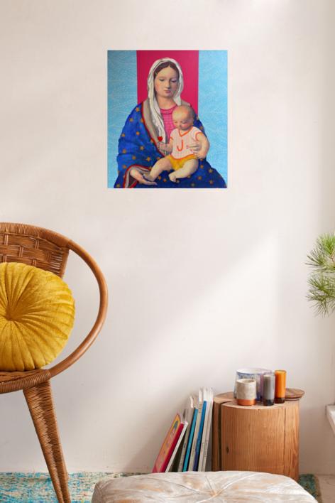 virgen Guapa de Mamá | Pintura de Paco Sánchez | Compra arte en Flecha.es