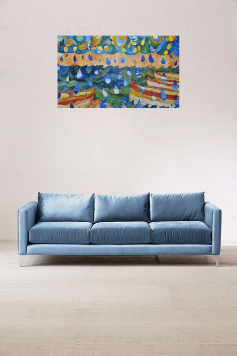 Sant Pol de Mar - Sa Calma | Obra gráfica de richard martin | Compra arte en Flecha.es