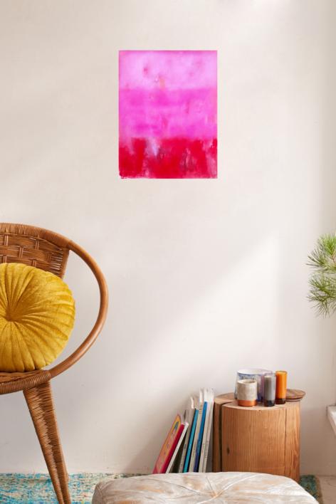 Field in rose | Pintura de Luis Medina | Compra arte en Flecha.es