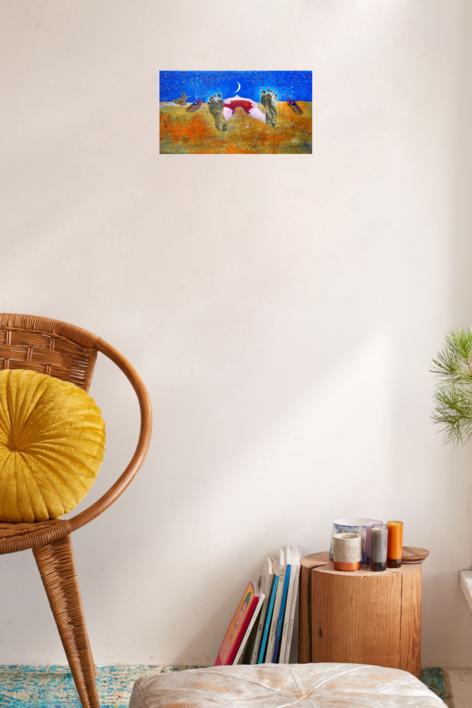 Regalos del cielo | Pintura de El Hortelano | Compra arte en Flecha.es