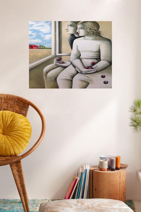 Casa roja | Pintura de Menchu Uroz | Compra arte en Flecha.es