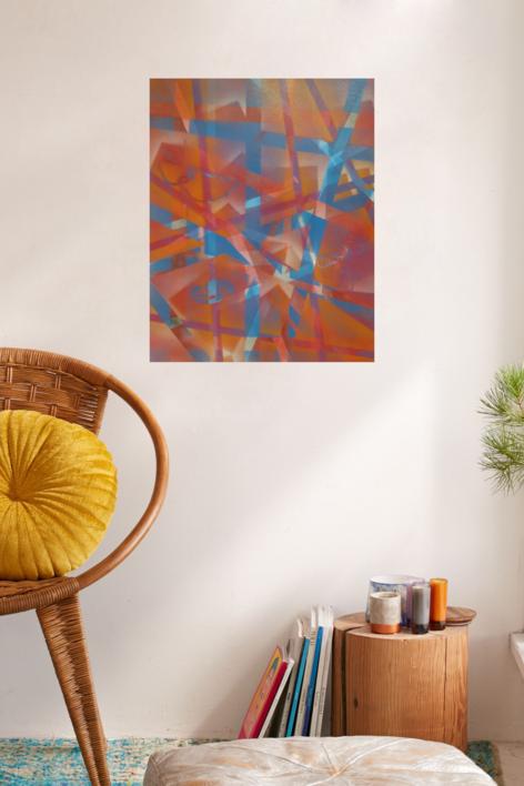 el bosque rojo | Pintura de Juan Caravaca Art | Compra arte en Flecha.es