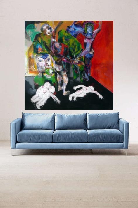 El  poder de la madre | Pintura de Javier Paniagua | Compra arte en Flecha.es