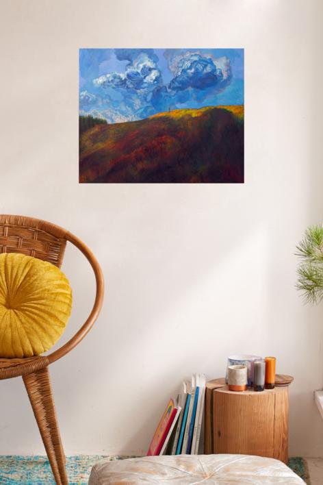 Nubes azules | Pintura de Fernando Charro | Compra arte en Flecha.es