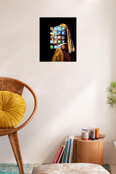 #Smartpaint, Muchacha con perla, Vermeer | Digital de Juan Carlos Rosa Casasola | Compra arte en Flecha.es
