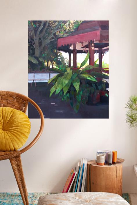 El templete   Pintura de Carmen Montero   Compra arte en Flecha.es