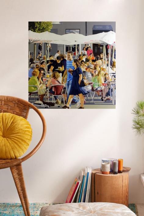 terraza en vitoria | Pintura de Jose Belloso | Compra arte en Flecha.es