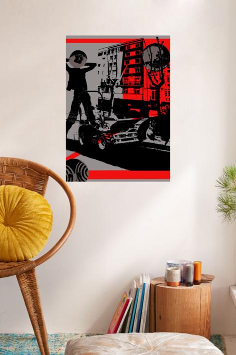 Ciudad extraña | Ilustración de androck | Compra arte en Flecha.es