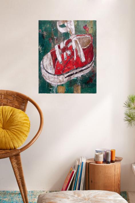 ZAPATILLA DE NIÑO   Collage de Barbeito   Compra arte en Flecha.es