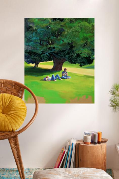 Hora de  descanso   Pintura de Carmen Montero   Compra arte en Flecha.es