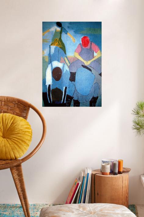 Los pescadores II | Obra gráfica de Jenifer Carey | Compra arte en Flecha.es