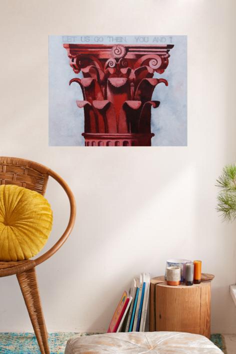 Corintio Rojo I | Pintura de Miguel Ortega Mesa | Compra arte en Flecha.es