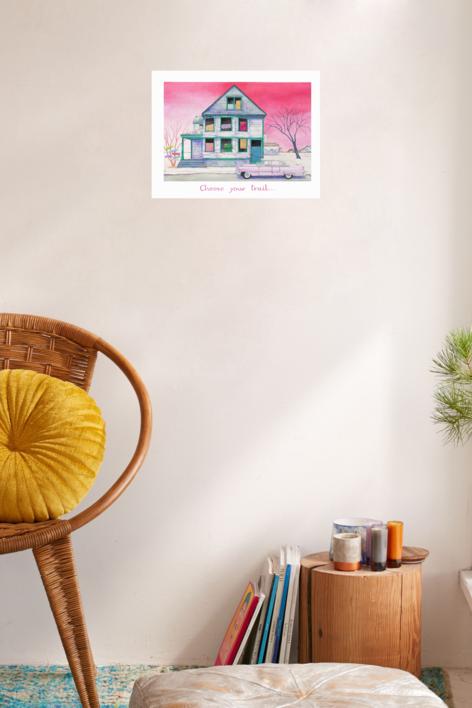 Choose Your Trail   Ilustración de Rosa Alamo   Compra arte en Flecha.es