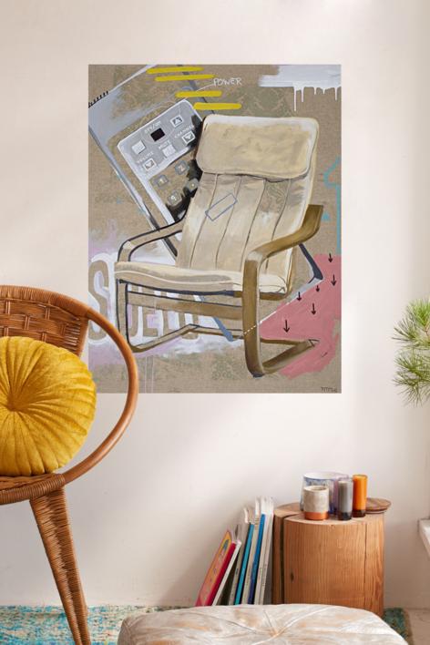 El primer sofá de casa | Dibujo de Alejandra de la Torre | Compra arte en Flecha.es