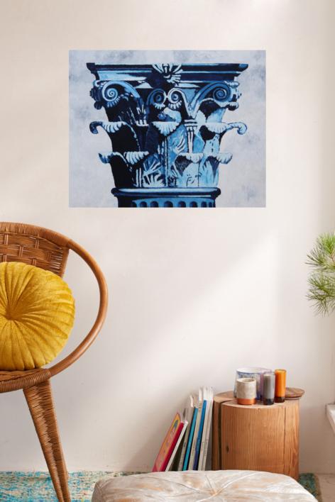 Corintio Azul | Pintura de Miguel Ortega Mesa | Compra arte en Flecha.es