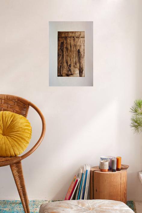 3 Desgraciadas | Obra gráfica de David Rojas | Compra arte en Flecha.es
