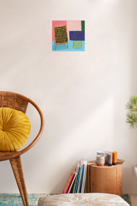 Chaise Jaune   Pintura de Ana Cano Brookbank   Compra arte en Flecha.es