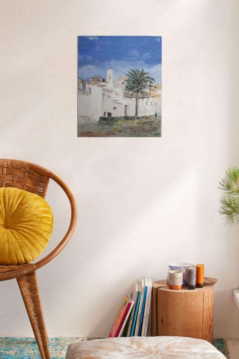 MONTGAT | Pintura de Tines | Compra arte en Flecha.es