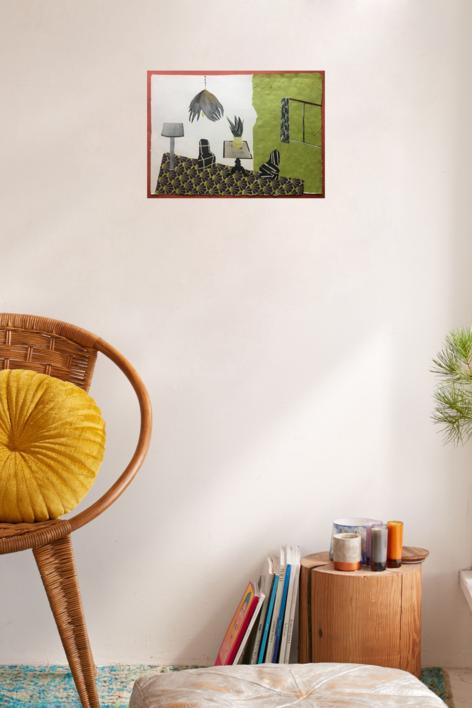 Habitación Pistacho | Collage de Mero Pil Pil | Compra arte en Flecha.es