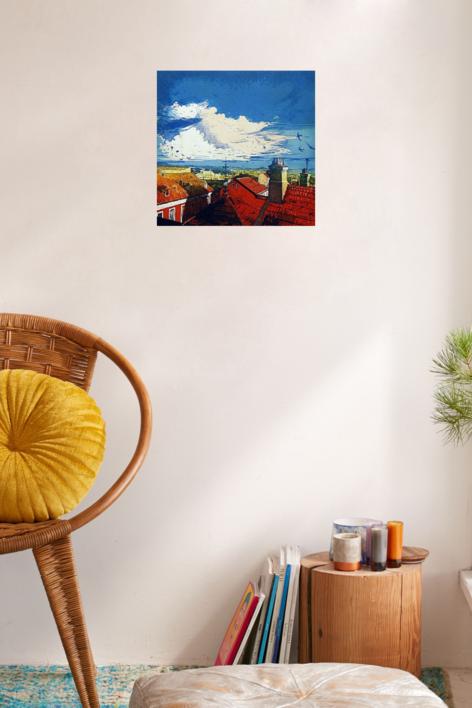 Cielo de verano | Obra gráfica de Clara Gangutia | Compra arte en Flecha.es