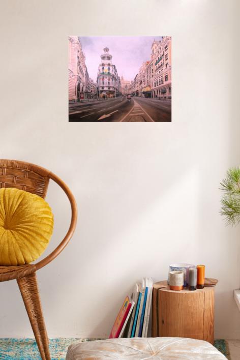 Gran Vía | Pintura de Pablo Orduña | Compra arte en Flecha.es