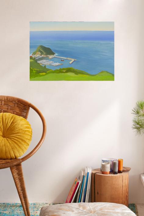 Puerto de Guetaria | Pintura de Ignacio Mateos | Compra arte en Flecha.es