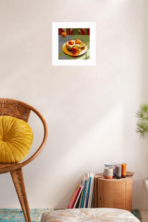 Plato con fruta | Digital de Beatriz Ujados | Compra arte en Flecha.es