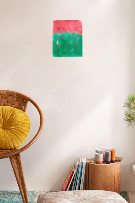 Red and green   Pintura de Luis Medina   Compra arte en Flecha.es