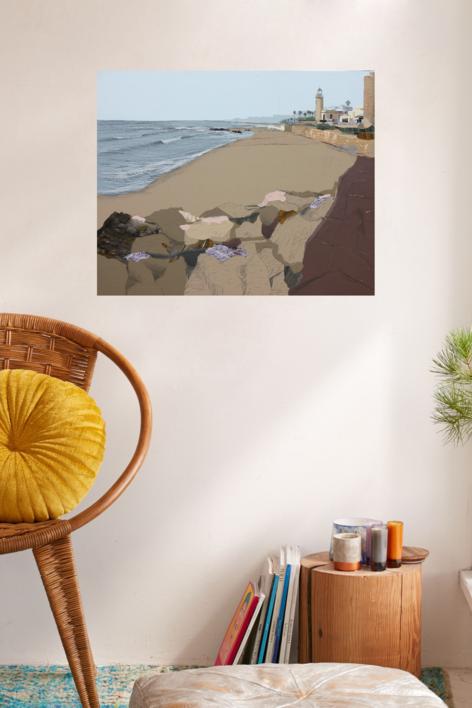 Faro mediterráneo | Collage de Eduardo Query | Compra arte en Flecha.es