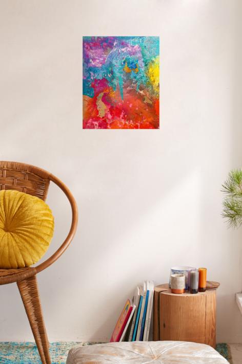 Lluvia ácida.   Pintura de Ángeles Romo   Compra arte en Flecha.es