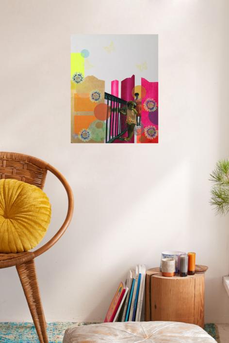 Mirar | Collage de Olga Moreno Maza | Compra arte en Flecha.es