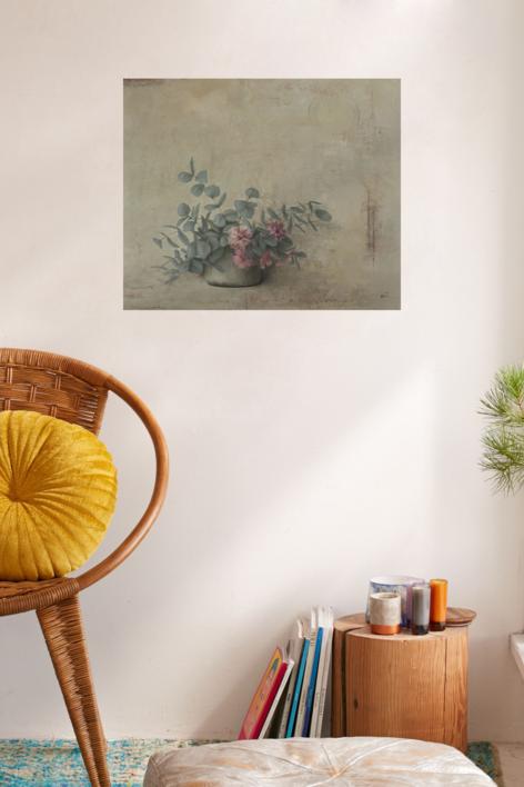 Eucalipto con flor   Pintura de marta gomez de la serna   Compra arte en Flecha.es