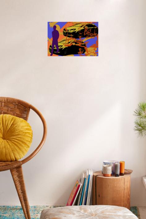 Coches | Ilustración de androck | Compra arte en Flecha.es