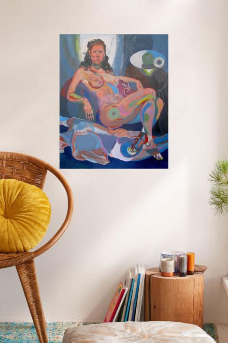 El reposo   Pintura de Nader   Compra arte en Flecha.es