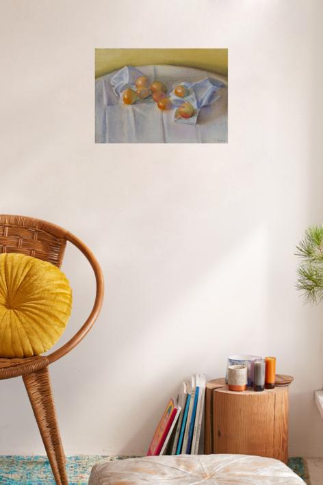 Ocre, naranja, gris | Pintura de Ignacio Mateos | Compra arte en Flecha.es