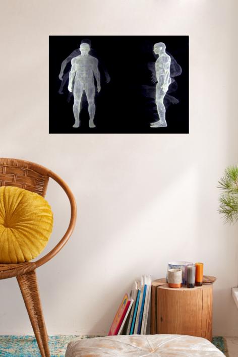 Muybridge  - Salto II | Dibujo de David Ortega | Compra arte en Flecha.es
